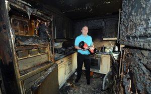 Сгоревший из за сигвея дом