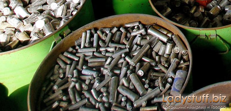 Не используемые батареи 18650 на переработке