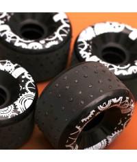 Искрящиеся колёса для скейтборда лонгборда.