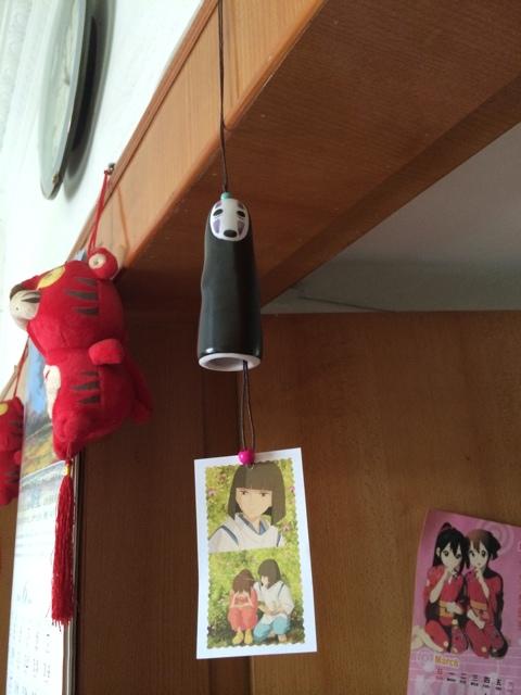Керамический колокольчик Безликий из мультфильма Хаяо Миядзаки Унесенные призраками